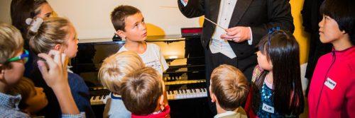 Groupe d'enfants lors d'une activité musicale Symfomania