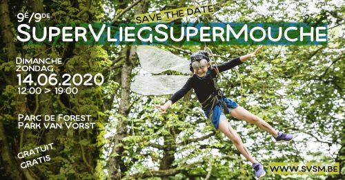 Affiche/Banner pour l'édition 2020 de SuperVliegSuperMouche
