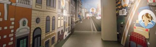 """Vue de l'exposition """"Ville de demain"""""""